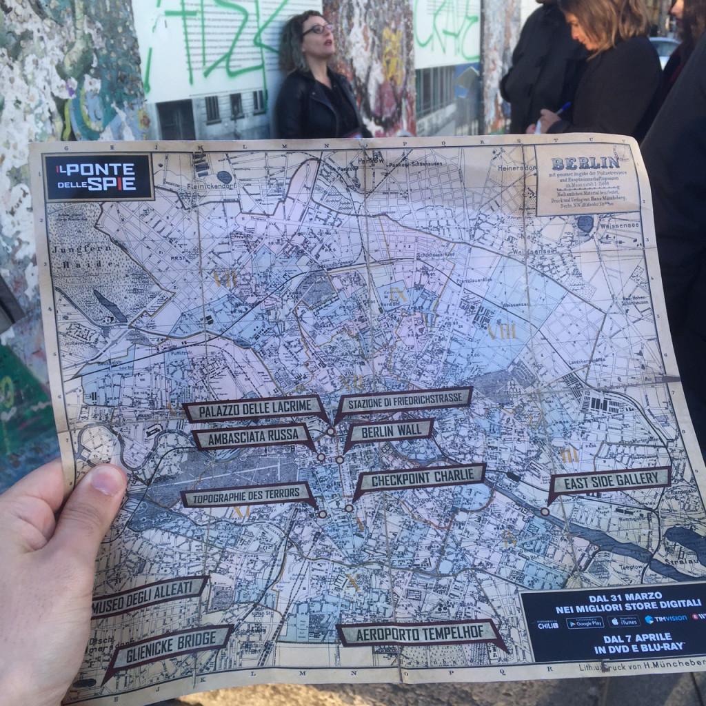 Mappa Tour delle spie Berlino