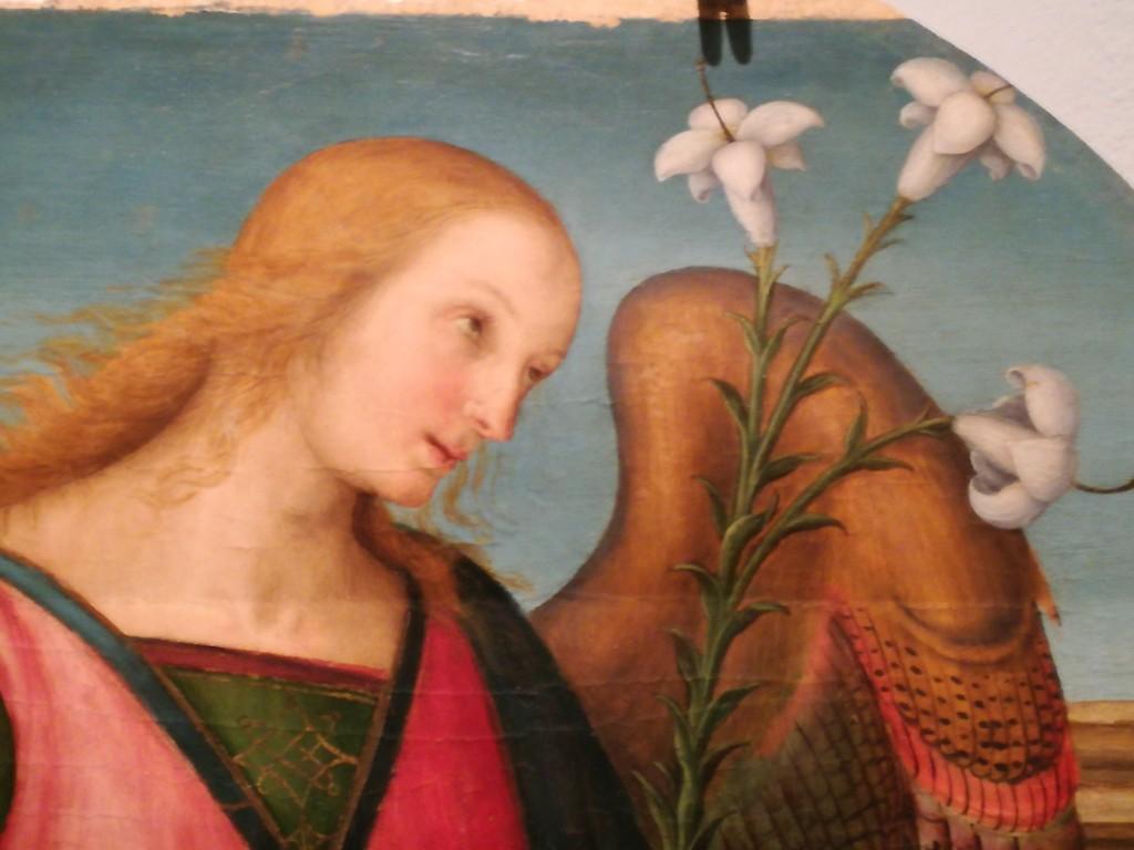 L'Aracangelo Gabriele di Pietro Vannucci detto Il Perugino pala di S..Antagostino.