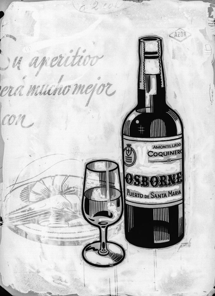 Dibujo linea botella [de Amontillado Coquinero Osborne y copa]